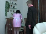 Russian Maid Gets Abused While Cleaning The House