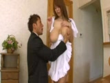 Busty Japanese Maid Knows How To Please Her Master