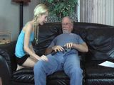 Grandpa Has New Toy For Pigtailed Teen Girl