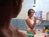 Boy Interrupt Stepsisters Morning Routine Rude Way