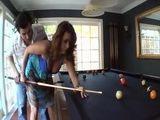 Giving A Pool Lessons To Lewd Cougar Stepmother Turn Into Sex